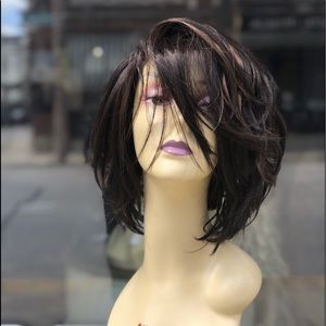 Brown highlights Lacefront wig 2020